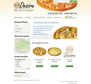 Prima pagina pentru Desire Pizza